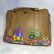 handmade. Livemaster - original item Painted bags.