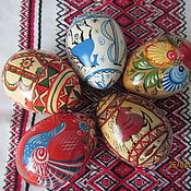 Подарки к праздникам ручной работы. Ярмарка Мастеров - ручная работа Яйца Пасхальные деревянные. Handmade.