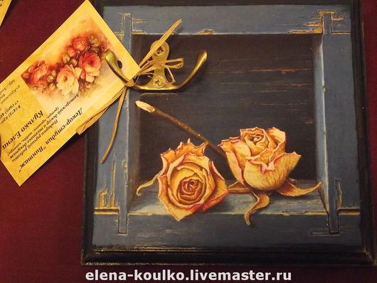 """Прихожая ручной работы. Ярмарка Мастеров - ручная работа. Купить Ключница """"Розы"""". Handmade. Ключница, ключница ручной работы, подарок"""
