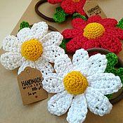 Работы для детей, handmade. Livemaster - original item Jewelry hair bands crochet Flowers girl summer. Handmade.