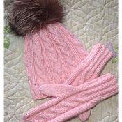 Аксессуары ручной работы. Ярмарка Мастеров - ручная работа Комплект шапка и варежки. Handmade.