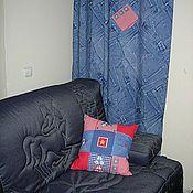 Для дома и интерьера ручной работы. Ярмарка Мастеров - ручная работа шторы Джинса и подушка (чехол). Handmade.
