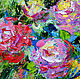 """Картины цветов ручной работы. Картина """"Букет Роз в Стиле Прованс"""" картина с цветами. ЯРКИЕ КАРТИНЫ Наталии Ширяевой. Ярмарка Мастеров."""
