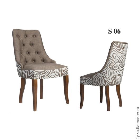 Дизайнерский стул S06 с гвоздиками и каретной стяжкой в стиле капитоне