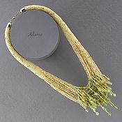 Украшения handmade. Livemaster - original item Lime blossom - a beaded necklace. Handmade.