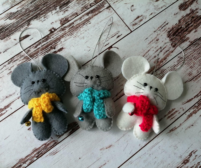 Мышка, крыска символ 2020года.мышка из фетра, Новогодние сувениры, Горнозаводск,  Фото №1