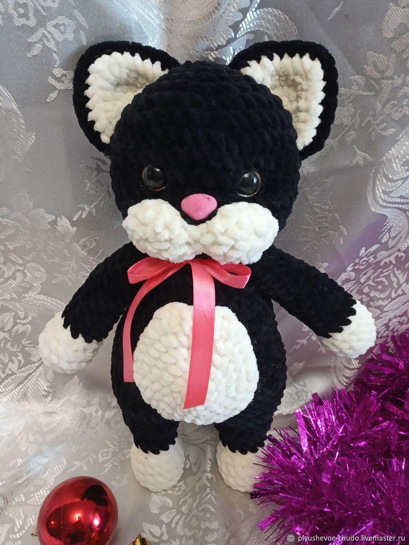 Котик из плюшевой пряжи, Мягкие игрушки, Магнитогорск,  Фото №1