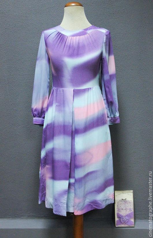 Одежда. Ярмарка Мастеров - ручная работа. Купить Платье 70-е годы винтаж. Handmade. Комбинированный, винтаж, красивое платье