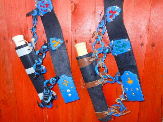 Мужской пояс - тасма + нож-спутник в кожаных ножнах