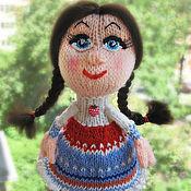 Куклы и игрушки ручной работы. Ярмарка Мастеров - ручная работа Вязаная кукла спицами. Handmade.