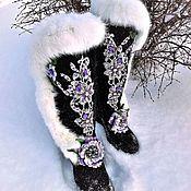 """Обувь ручной работы handmade. Livemaster - original item Валенки """"Зимняя сказка"""". Handmade."""