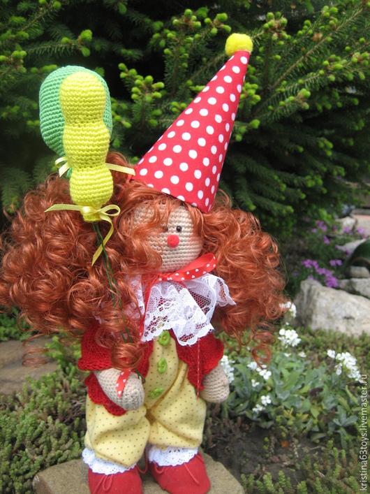 Человечки ручной работы. Ярмарка Мастеров - ручная работа. Купить Вязаный клоун.. Handmade. Клоун, вязание, подарок на день рождения