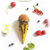"""Подарки к праздникам ручной работы. Ярмарка Мастеров - ручная работа Мороженое (муляж) """"Шоколадная радость"""". Handmade."""