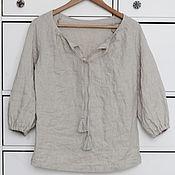 Одежда handmade. Livemaster - original item Boho blouse made of natural linen. Handmade.