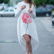 Одежда handmade. Livemaster - original item Summer, white tunic with pattern - TU0435TR. Handmade.