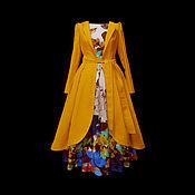 """Одежда ручной работы. Ярмарка Мастеров - ручная работа Рубашка-пальто """"Цветение Барбариса""""лен. Handmade."""