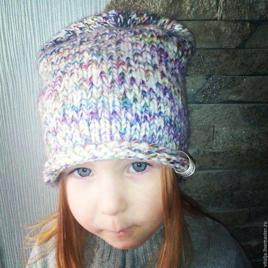 Шапки и шарфы ручной работы. Ярмарка Мастеров - ручная работа. Купить Весенне-осенняя шапуля для малышки. Handmade. Комбинированный