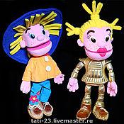 Куклы и игрушки handmade. Livemaster - original item Dunno Kosmonika. Tablet glove puppets.. Handmade.