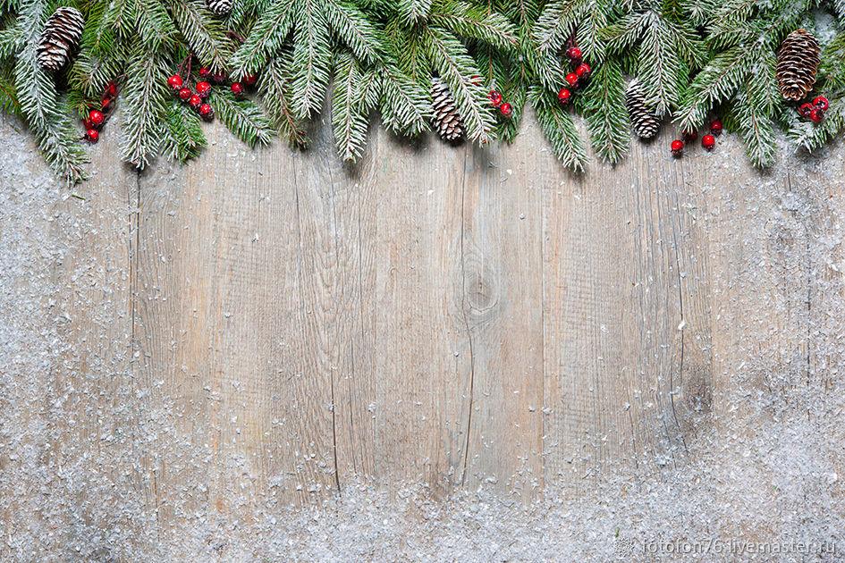 Фотофон  Хвоя в снегу 40х40 см, Фото, Ярославль,  Фото №1