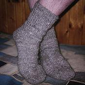 Аксессуары handmade. Livemaster - original item Men`s knitted socks Silver frost. Handmade.