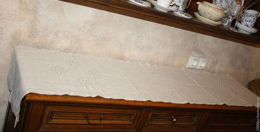 Винтажные предметы интерьера. Ярмарка Мастеров - ручная работа. Купить Льняная дорожка в идеальном состоянии .... Handmade. Бежевый, льняная дорожка