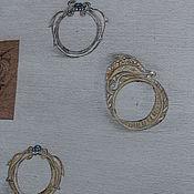 Украшения ручной работы. Ярмарка Мастеров - ручная работа кольца эскиз дельфины. Handmade.