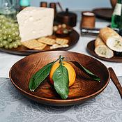 Посуда handmade. Livemaster - original item Wooden deep dish Siberian Cedar kitchen utensils 220 mmt105. Handmade.