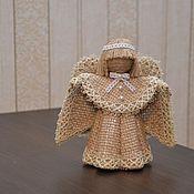 Статуэтка ручной работы. Ярмарка Мастеров - ручная работа Ангел из мешковины. Handmade.
