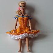 Куклы и игрушки ручной работы. Ярмарка Мастеров - ручная работа Вязанное платье для барби. Handmade.