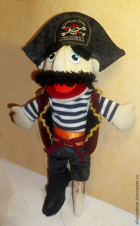 Кукольный театр ручной работы. Ярмарка Мастеров - ручная работа. Купить кукла-маппет Пират. Handmade. Кукла-маппет