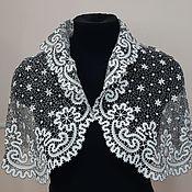 handmade. Livemaster - original item Openwork cape Vyatka lace. Handmade.