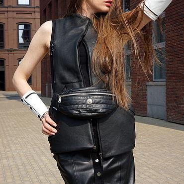 Clothing handmade. Livemaster - original item Leather Vest. Handmade.