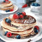 Картины и панно handmade. Livemaster - original item Pictures: Pancakes. Handmade.