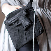 Сумки и аксессуары handmade. Livemaster - original item 3D black pistol Clutch made of genuine suede. Handmade.