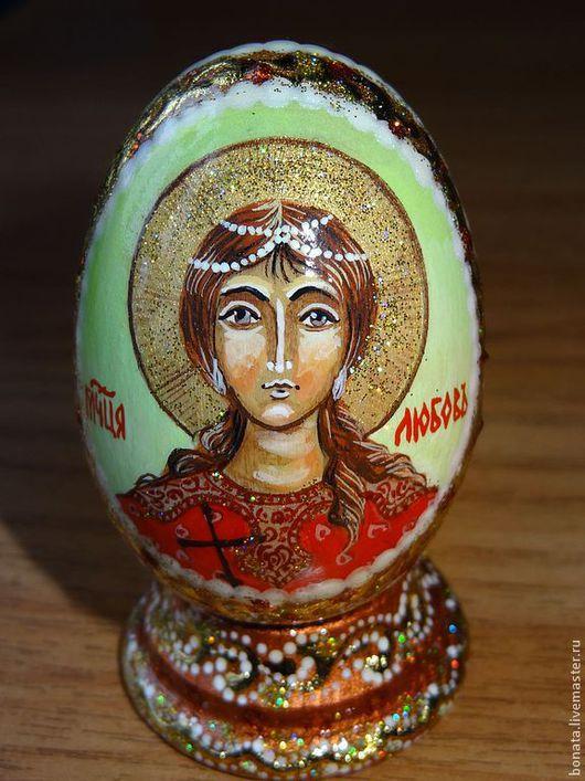 Яйца ручной работы. Ярмарка Мастеров - ручная работа. Купить Яйцо пасхальное с иконкой по именам святых. Handmade. День ангела