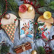 Сувениры и подарки handmade. Livemaster - original item Garland: Garland of flags Childhood of the USSR, decoupage. Handmade.