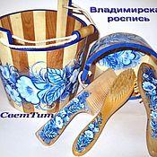 Для дома и интерьера ручной работы. Ярмарка Мастеров - ручная работа набор для сауны, бани. Handmade.