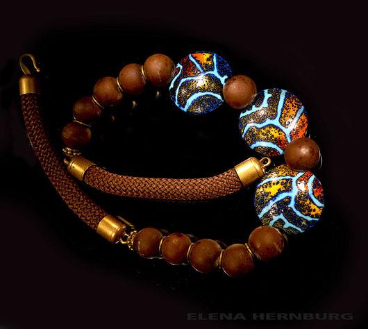 """Колье, бусы ручной работы. Ярмарка Мастеров - ручная работа. Купить Колье """"Африканские страсти"""". Лэмпворк. Handmade. Лэмпворк"""
