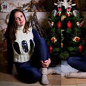 Одежда ручной работы. Ярмарка Мастеров - ручная работа Вязаная жилетка. Handmade.