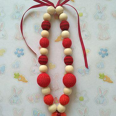 """Товары для малышей ручной работы. Ярмарка Мастеров - ручная работа Слингобусы """"Ярко-красные"""" с погремушками. Handmade."""