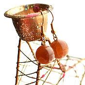Серьги классические ручной работы. Ярмарка Мастеров - ручная работа 231 Симбирцитовые серьги. Handmade.