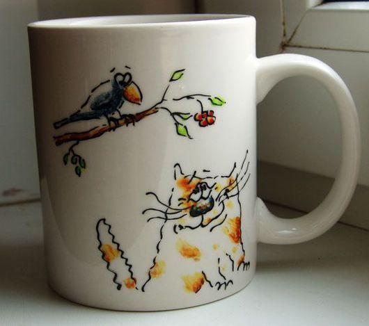 Кружки и чашки ручной работы. Ярмарка Мастеров - ручная работа. Купить Коты-4. Handmade. Кот, Кошки, комбинированный