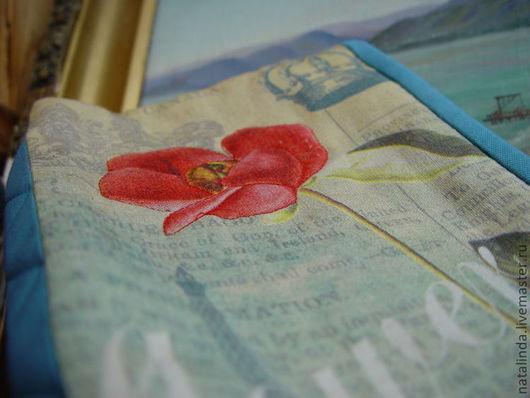 Женские сумки ручной работы. Ярмарка Мастеров - ручная работа. Купить Красная роза, эмблема любви клатч / косметичка. Handmade.