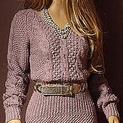 """Одежда ручной работы. Ярмарка Мастеров - ручная работа Вязаное платье """"Silk Tweed"""". Handmade."""