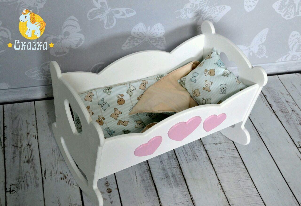 Кровать качалка для куклы своими руками 23
