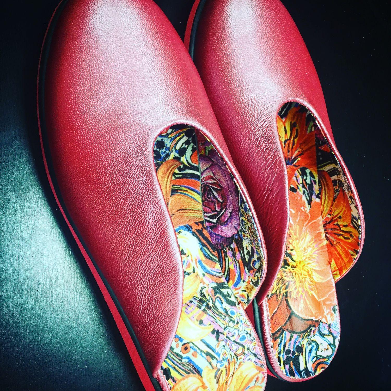 Обувь ручной работы. Ярмарка Мастеров - ручная работа. Купить Мюли. Handmade. Цветочный принт, розовые мюли, мюли для меня