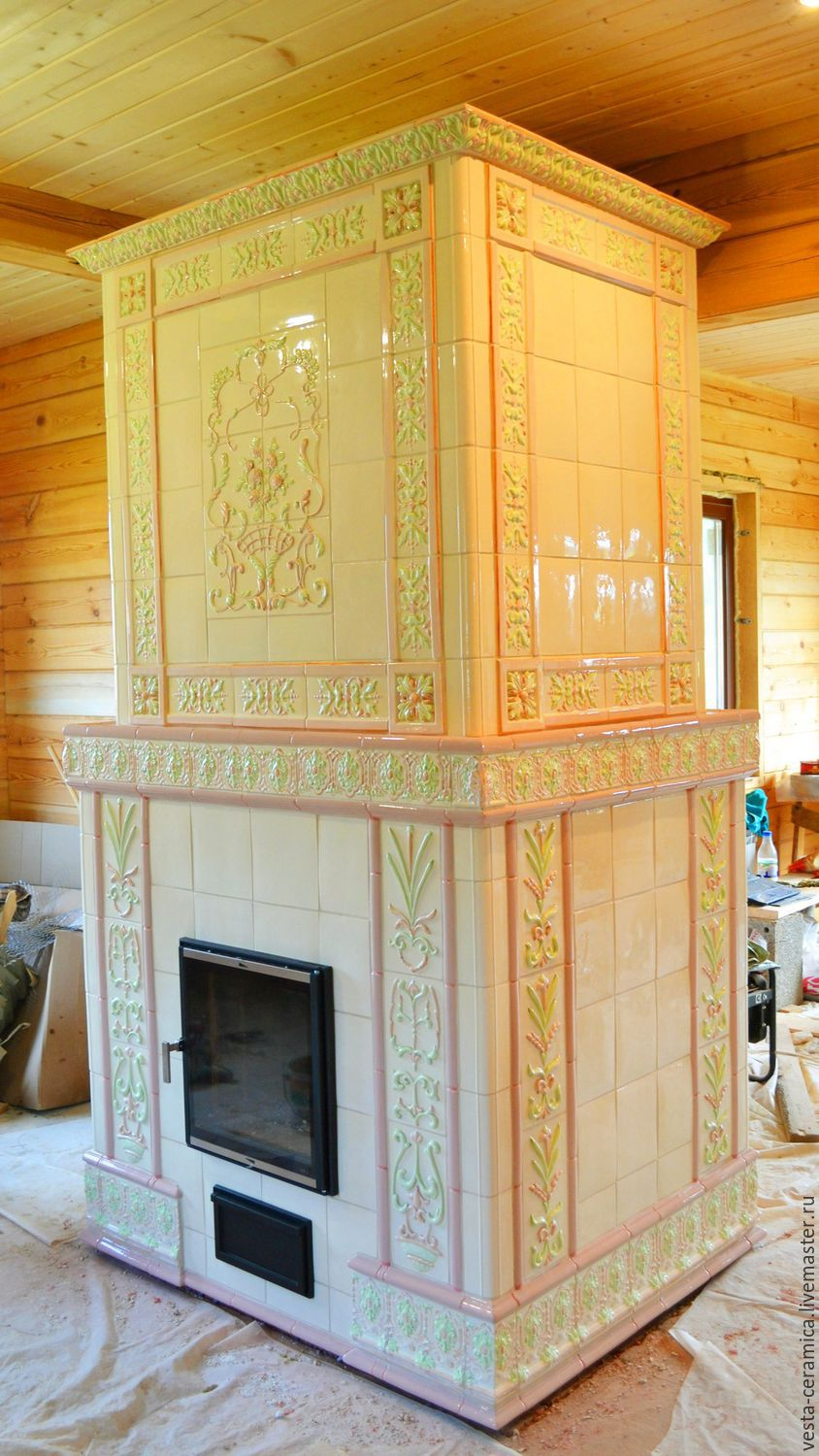 Tiled stove Madlen, Fireplaces, Moscow,  Фото №1