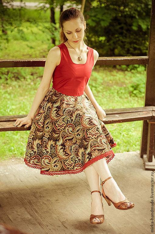 """Платья ручной работы. Ярмарка Мастеров - ручная работа. Купить Платье  в стиле бохо """"First Date"""". Handmade. Бордовый"""
