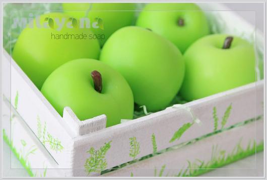 """Мыло ручной работы. Ярмарка Мастеров - ручная работа. Купить Мыло """"Яблоко"""". Handmade. Мыло яблоко, сувенирное мыло"""