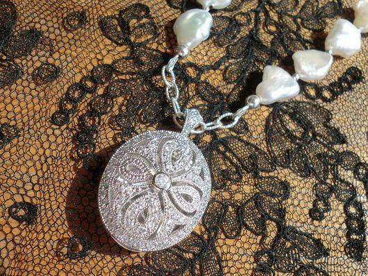 """Колье, бусы ручной работы. Ярмарка Мастеров - ручная работа. Купить колье """"Royal Empress"""" - серебро, барочный жемчуг. Handmade."""